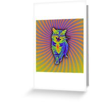 Psychedelic Kitty (Remaster) Greeting Card