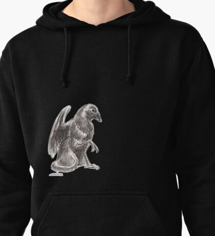 Sketch -- Mythological House Griffin: Crow Variety Pullover Hoodie