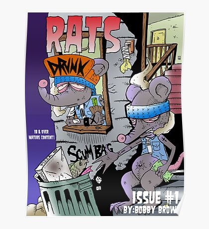 Rats issue #1 comic book cover Poster