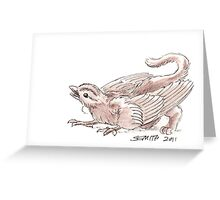 Sketch -- Mythological House Griffin, Sparrow variety Greeting Card