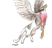 Sketch -- Mythological House Griffin: Robin Variety by Stephanie Smith