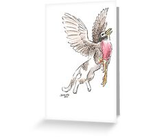 Sketch -- Mythological House Griffin: Robin Variety Greeting Card