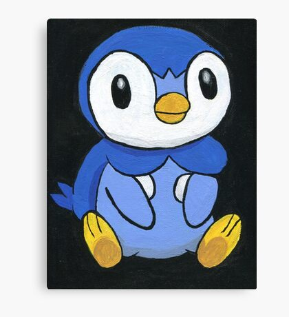 Piplup the Penguin Pokemon Canvas Print