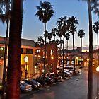 Balcony Sunset Palms and Lamplights - San Diego © 2010 by Jack McCabe
