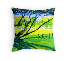 Old Trees, Derbyshire Throw Pillow