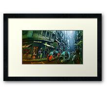 Green Road Framed Print