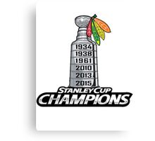 Chicago BlackHawks Stanley Cup Champions Canvas Print