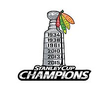 Chicago BlackHawks Stanley Cup Champions Photographic Print
