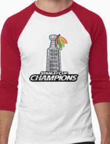 Chicago BlackHawks Stanley Cup Champions Men's Baseball ¾ T-Shirt