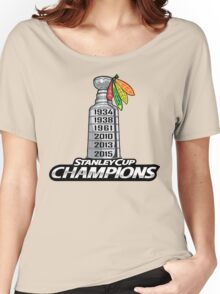 Chicago BlackHawks Stanley Cup Champions Women's Relaxed Fit T-Shirt