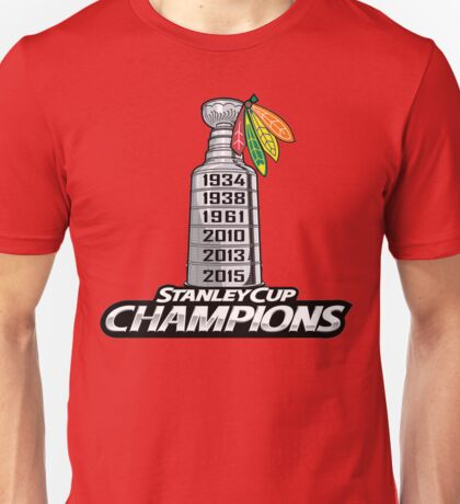 Chicago BlackHawks Stanley Cup Champions Unisex T-Shirt