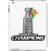 Chicago BlackHawks Stanley Cup Champions iPad Case/Skin