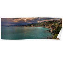 Vista panoramica della baia di Naxos Poster
