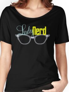 Proud LadyNerd (Grey Glasses) Women's Relaxed Fit T-Shirt