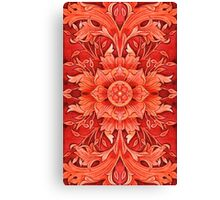 - Red pattern - Canvas Print