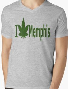 0101 I Love Memphis Mens V-Neck T-Shirt