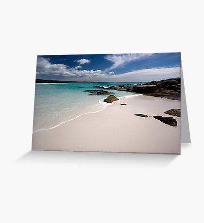 Bay of Fires   - Tasmania coast  Greeting Card