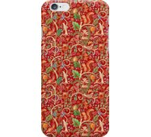 Red Nature Pattern iPhone Case/Skin