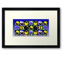 Pansy Faces Collage  Framed Print