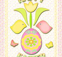 Happy Easter Art Poster by Jamie Wogan Edwards