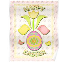 Happy Easter Art Poster Poster