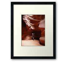 Flute Player at Antelope Canyon Framed Print
