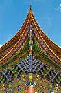 Chongshen Temple detail by Robert Dettman