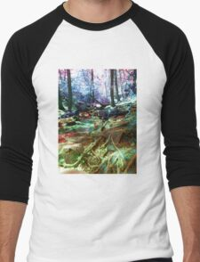 psychedelic forest Men's Baseball ¾ T-Shirt