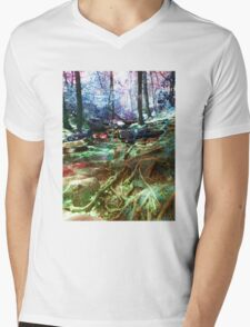 psychedelic forest Mens V-Neck T-Shirt