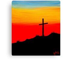 """Sunset Cross"" Canvas Print"
