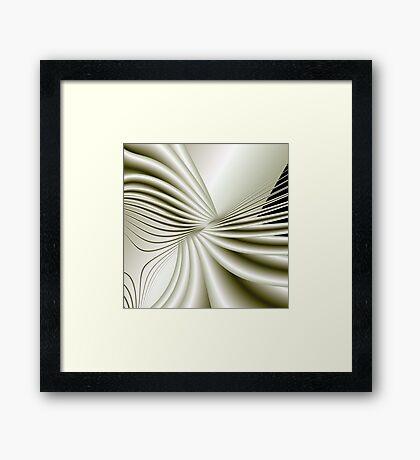 WHITE BRIDE'S BOW Framed Print