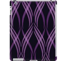 Black and Pink Abstract Ribbon Curls Pattern iPad Case/Skin