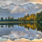 Lake Matheson HDR by Julienne  Bowser