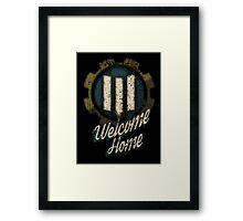 Fallout 4 Vault 111 Welcome Home (Post War - Blue) Framed Print