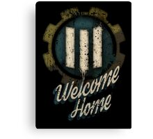 Fallout 4 Vault 111 Welcome Home (Post War - Blue) Canvas Print