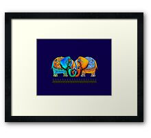 Littlest Elephant Love Links Framed Print