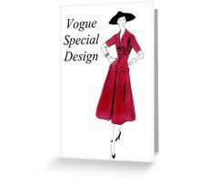 Vogue 1953 Greeting Card