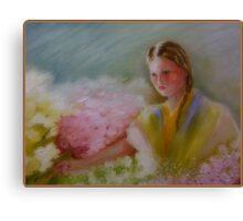 Flower Vendor Canvas Print