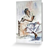 Sitting Figure 1 Greeting Card