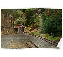 Railway Coach Shed,Walhalla  Poster