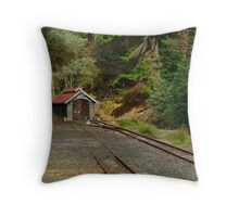 Railway Coach Shed,Walhalla  Throw Pillow