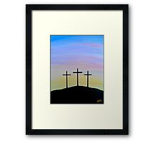 """The Three Crosses"" Framed Print"