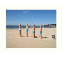 Geelong Lifeguard Bollards Art Print
