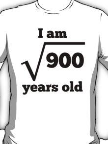30th Birthday Square Root T-Shirt