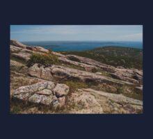 Rocky Coastal Terrain, in Maine  One Piece - Short Sleeve