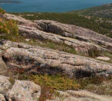 Rocky Coastal Terrain, in Maine  Sticker