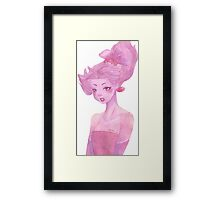 Her Anamorphosis Framed Print