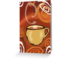 Single Cup Of Coffee Greeting Card
