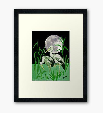 A Moonlight ramble.  after Louis Wain. Framed Print