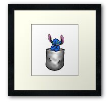 Stitch Pocket Framed Print